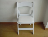 RESIN FOLDING CHAIR-WHITE
