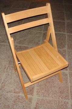Chairman Hire Beechwood Folding Chairs Top View