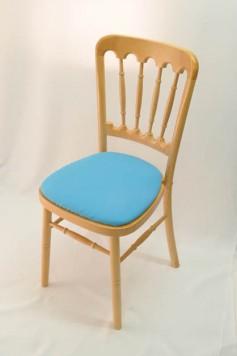 Chairman Hire Bentwood Cheltenham Natural Wood Aqua marine Turquoise Cotton Seat Front