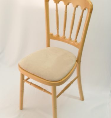 Chairman Hire Bentwood Cheltenham Natural Wood Ivory Oyster Dralon Velour Front