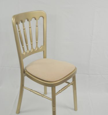Gold Cheltenham Spindleback Chair Cotton Seat