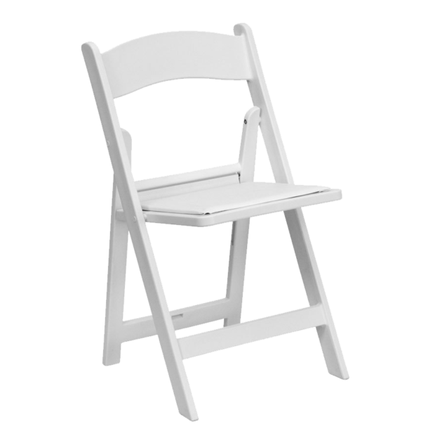 White Ceremony Folding Chair Chairman Hire