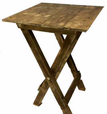 Rustic Poseur Table