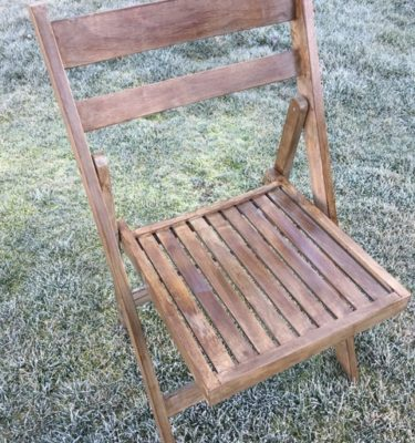 Vintage Wooden Folding Chair2