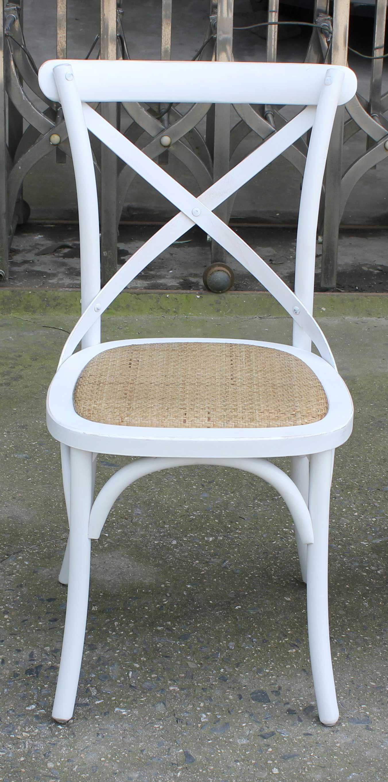 Chairman Hire Weathered Oak White And Beech Cross Back Chairs