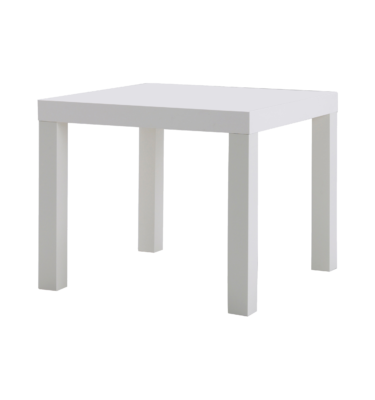 White Square Side Table