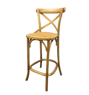 Solid-Oak-Cross-Back-Bar-Stool