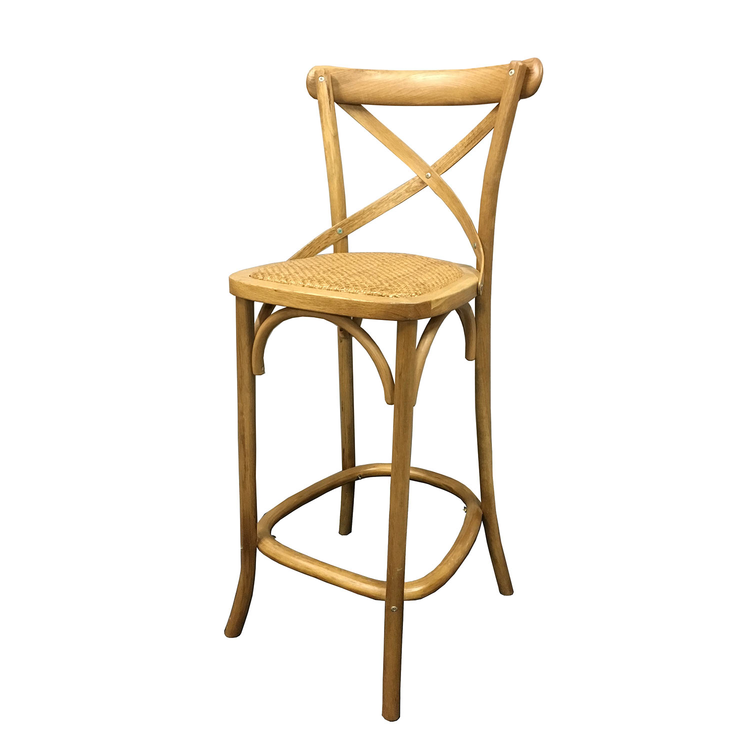 Picture of: Wooden Cross Back Bar Stool Chairman Hire