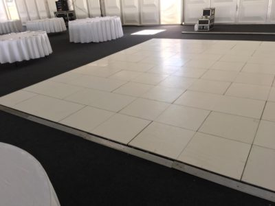 Brilliant White pure White Dance Floor Hire