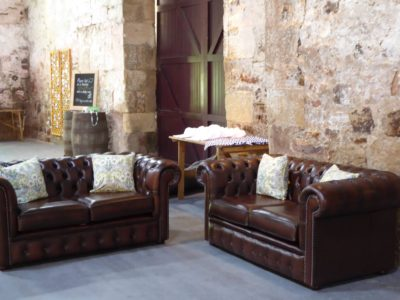 Brown Chesterfield Sofas (2 seater)