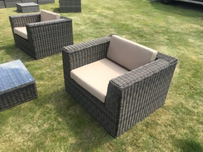 Brown garden soft seating outdoor sofa