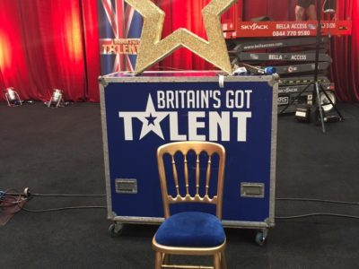 Gold cheltenham chair auditioning for BGT!