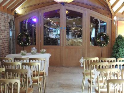 Gold cheltenham wedding ceremony chairs copy