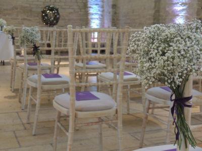 Limewash chivari chair wedding chairs white gypsophila chair flowers