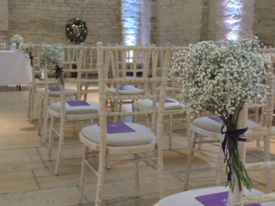 Limewash chivari wedding chairs white gypsophila chair flowers copy