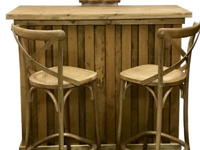 Rustic Wooden Bar Oak Bar Stool for Hire Chairman Bar Area