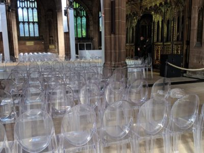 Victoria Ghost chair and ice chair for weddings