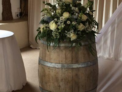 Vintage wooden barrel rustic wedding accessories copy