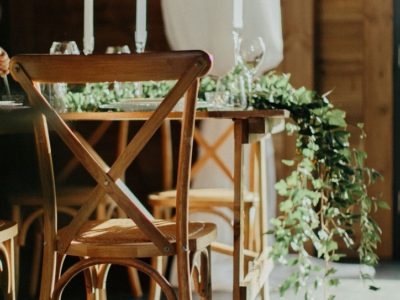 Weathered Oak Cross Back Rustic Vintage wedding chairs