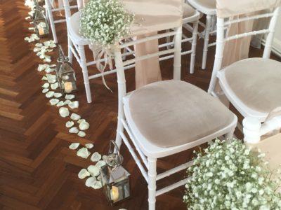 White Chivari wedding chairs wedding aisle chair decoration