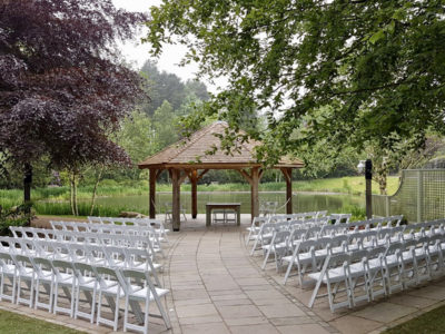 White Wedding Ceremony Outdoor ceremony Lakes Chair Hire