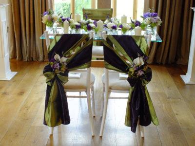 White chivari bride and groom wedding chairs copy