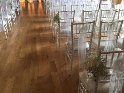 White chivari wedding chairs wedding ceremony white chairs Skylark Country Club