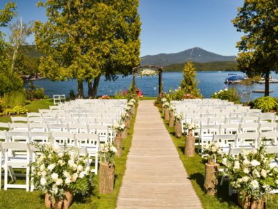 White folding wedding chairs ceremony chairs by waters edge copy
