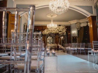 chairman Hire Ice ghost Acrylic Perspex Chiavari Wedding Ceremony Chair Hire Courtesy Matthew Grainger Photography Haigh Hall