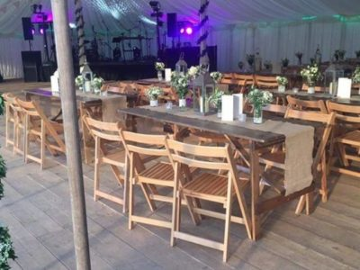 Beechwood folding wedding chairs