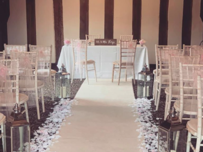 Limewash chivari chair wedding aisle
