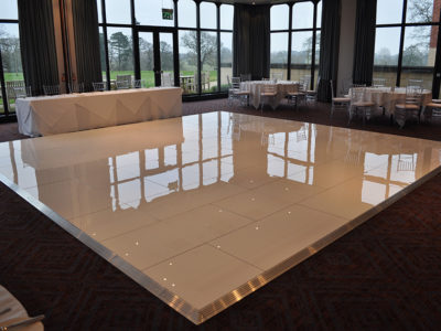 White dance floor