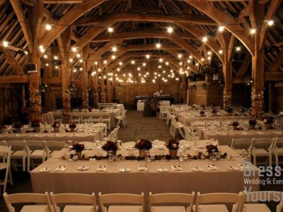 White folding ceremony chairs for weddings and events
