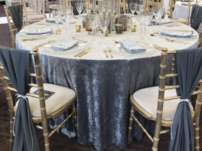 Gold chivari chairs at Rookery Hall